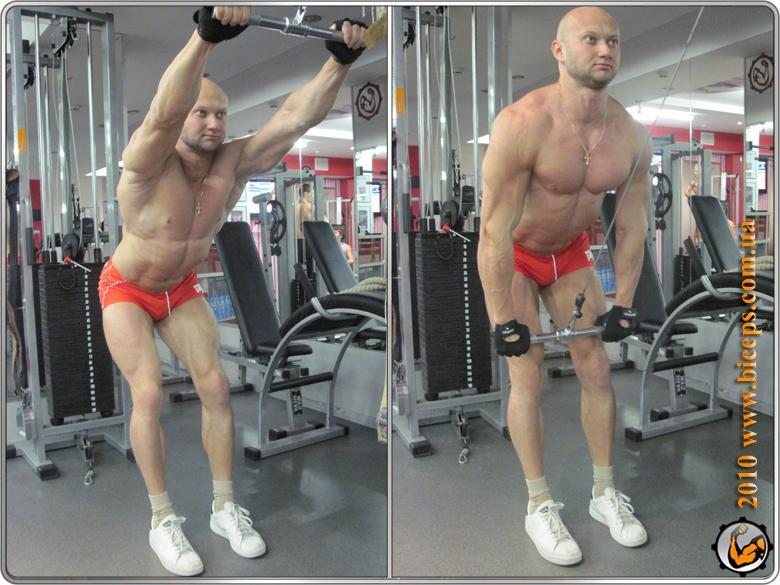 Спина - Широчайшие мышцы - Пуловер у верхнего блока