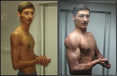 Анаболики до после курс сустанона для роста мышц дозировка