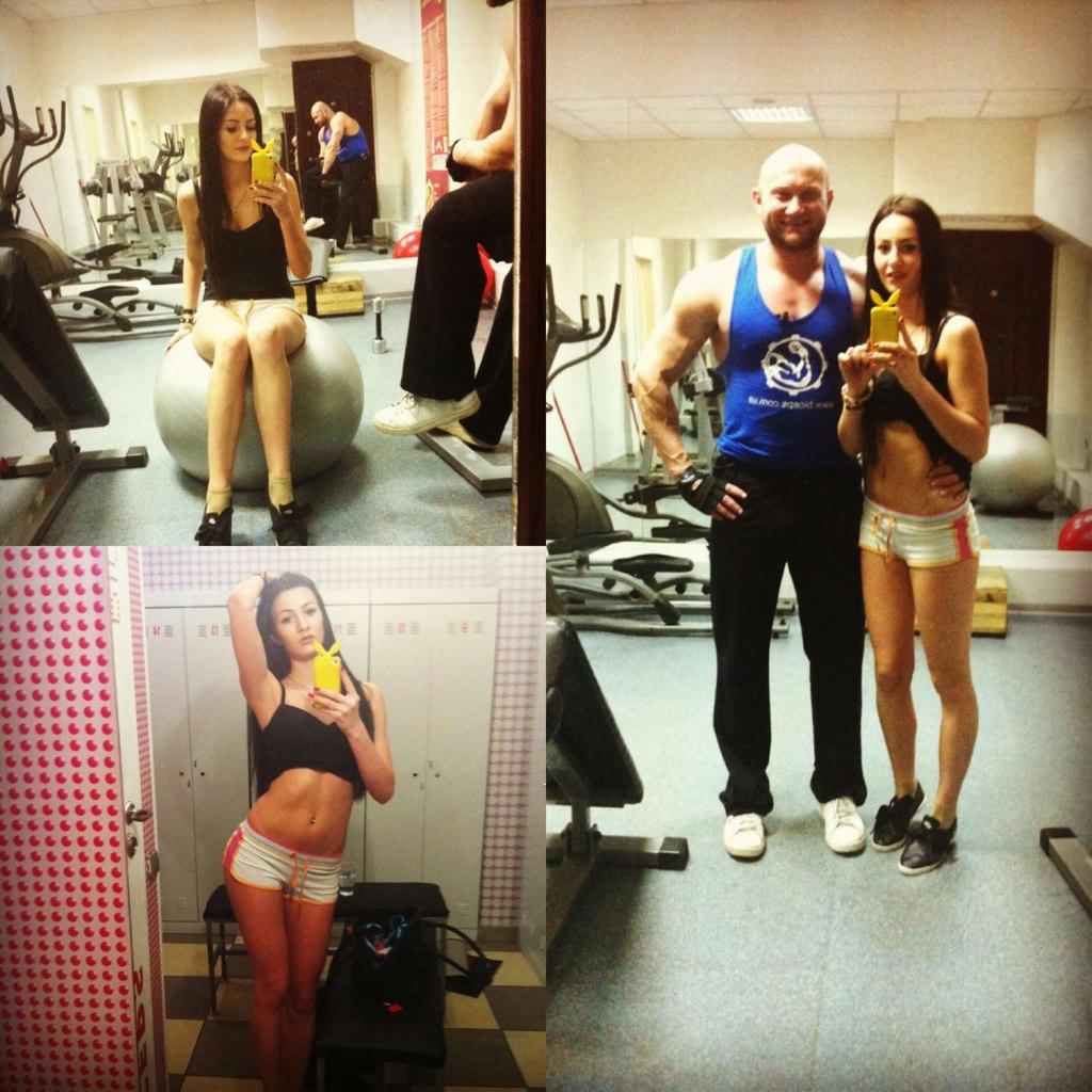 фитнес-модель Елена