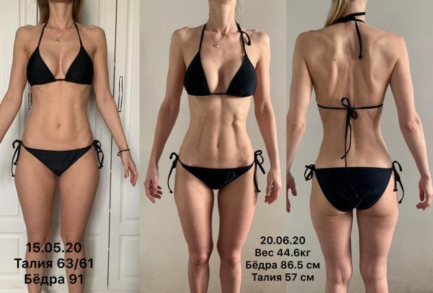Фото до и после похудения Юлии